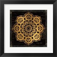 Framed Gold Mandala I