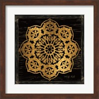 Framed Gold Mandala I