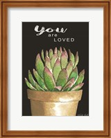 Framed You Are Loved Cactus