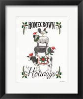 Framed Homegrown Holidays