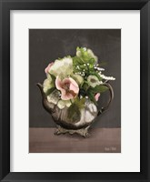 Framed Vintage Floral Tea Pot