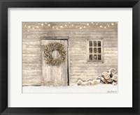 Framed Old Farm Christmas