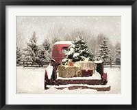 Framed Snowy Presents