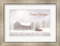 Framed Season's Greetings with Truck
