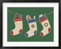 Framed Christmas Socks