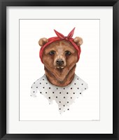 Framed Bear in Bandana