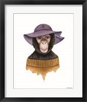 Framed Cozy Chimp