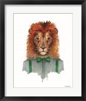 Framed Lovely Lion