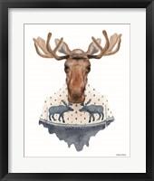 Framed Moose in a Moose Sweater