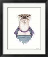 Framed Otter in Overalls