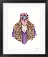 Framed Vulture in a Vest