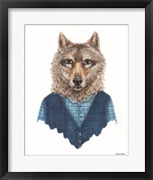 Framed Wolf in Waistcoat