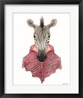 Framed Zebra in a Zipup