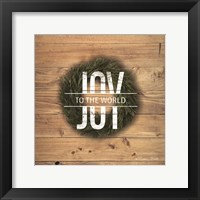 Framed Joy to the World with Wreath