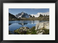 Framed Whatcom Peak Reflected In Tapto Lake, North Cascades National Park