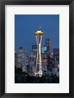 Framed Washington State, Seattle Space Needle