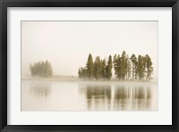 Framed Morning Fog Along The Yellowstone River In Yellowstone National Park