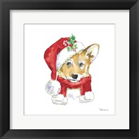 Framed Holiday Paws VIII on White