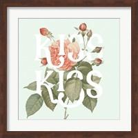Framed Botanical Pink Rose I Kiss