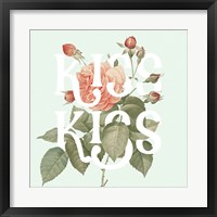 Framed Botanical Pink Rose I Kiss