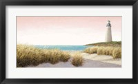 Framed Lighthouse by the Sea Blush