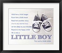 Framed Little Boy Poem