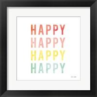 Framed Happy Happy