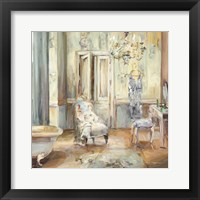 Boudoir Bath II Gray Framed Print