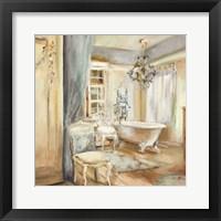 Framed Boudoir Bath I Gray