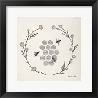 Framed Happy to Bee Home III Neutral