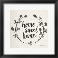 Framed Happy to Bee Home I Words Neutral