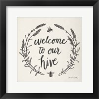 Framed Happy to Bee Home II Words Neutral