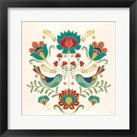 Framed Folk Floral III v2
