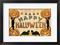 Framed Halloween Nostalgia Happy Halloween