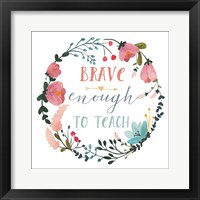 Framed Harriet Floral Teacher Inspiration II