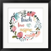 Framed Harriet Floral Teacher Inspiration I