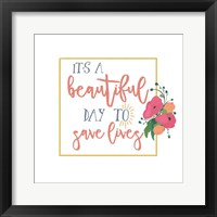 Framed Harriet Floral Nurse Inspiration I