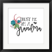 Framed Harriet Floral Grandma Inspiration I