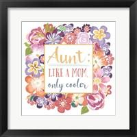 Framed Flourish Aunt Inspiration I