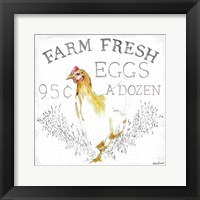 Framed Farm Fresh enamel