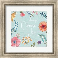 Framed Gypsy Meadow V Blue