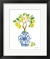 Framed Lemon Chinoiserie II