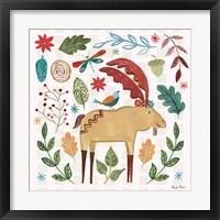 Framed Whimsical Woodland IV