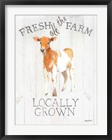Framed Fresh off the Farm wood