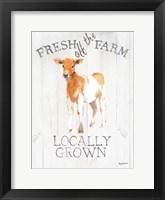 Framed Fresh off the Farm wood