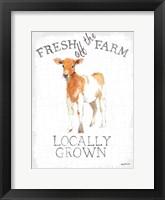 Framed Fresh off the Farm enamel