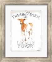 Framed Fresh off the Farm burlap