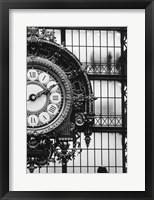 Framed Musee D'orsay Interior Clock, Paris, France