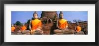 Framed Buddha Statues Near Bangkok Thailand