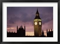 Framed Big Ben Palace Of Westminster London